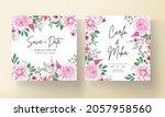 elegant wedding invitation card ... | Shutterstock .eps vector #2057958560