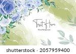 elegant floral frame background ... | Shutterstock .eps vector #2057959400
