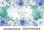 elegant floral frame background ... | Shutterstock .eps vector #2057959409