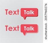 minimalistic talk vector... | Shutterstock .eps vector #2057960276