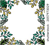 floral frame hand drawing.... | Shutterstock .eps vector #2057973029