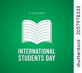 international students day. 17... | Shutterstock .eps vector #2057978333