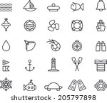 marine icons | Shutterstock .eps vector #205797898
