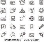 journalism   media icons | Shutterstock .eps vector #205798384