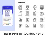 advertising thin line icons set ... | Shutterstock .eps vector #2058034196
