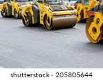 group of compactors and road... | Shutterstock . vector #205805644