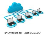 cloud computing concept   | Shutterstock . vector #205806100