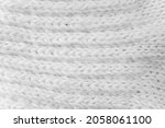 the details of a white fabric... | Shutterstock . vector #2058061100