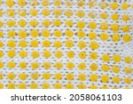 the details of a white fabric... | Shutterstock . vector #2058061103