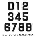 set of grunge dirty numbers. | Shutterstock .eps vector #2058062933