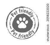 pet friendly grunge stamp  gray ...