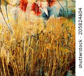 Wheat Field Painting And Mixed...