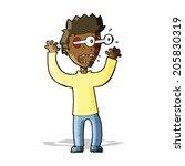 cartoon terrified man | Shutterstock . vector #205830319