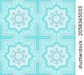 elegant victorian majolica tile ...   Shutterstock .eps vector #2058365033