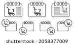 shopping cart vector icon in...