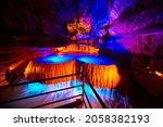 Large Underground Waterfall In...
