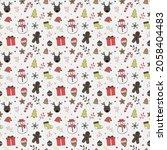 christmas wallpaper with...   Shutterstock .eps vector #2058404483