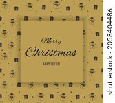 christmas greeting card with...   Shutterstock .eps vector #2058404486
