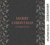 design of christmas greeting...   Shutterstock .eps vector #2058404489