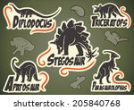 Vector Set Of Prehistoric...