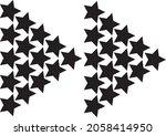 star forming arrow icon. black...   Shutterstock .eps vector #2058414950