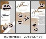 modern halloween design for... | Shutterstock .eps vector #2058427499