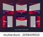 fitness banner layout template... | Shutterstock .eps vector #2058439010