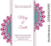 wedding invitation template... | Shutterstock .eps vector #2058442490