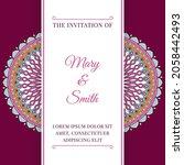 wedding invitation template... | Shutterstock .eps vector #2058442493