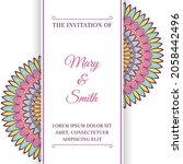 wedding invitation template... | Shutterstock .eps vector #2058442496