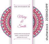 wedding invitation template... | Shutterstock .eps vector #2058442499