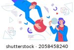 business collaboration and... | Shutterstock .eps vector #2058458240