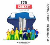 t20 cricket poster design with... | Shutterstock .eps vector #2058470309