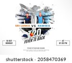 t20 fever is back concept with... | Shutterstock .eps vector #2058470369