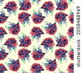 Seamless Pattern Of Red Roses...