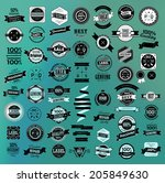 mega set of retro vintage... | Shutterstock .eps vector #205849630