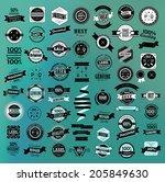 mega set of retro vintage... | Shutterstock .eps vector #205849630