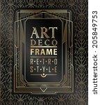 art deco geometric vintage... | Shutterstock .eps vector #205849753