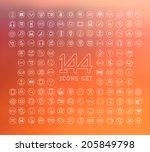 universal modern thin line... | Shutterstock .eps vector #205849798