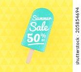 summer sale 50  off. vector... | Shutterstock .eps vector #205854694
