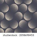 circles stippled seamless... | Shutterstock .eps vector #2058698453