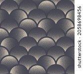 circles stippled seamless... | Shutterstock .eps vector #2058698456