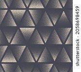 triangle stippled seamless... | Shutterstock .eps vector #2058698459