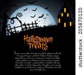 abstract happy halloween... | Shutterstock .eps vector #205870120
