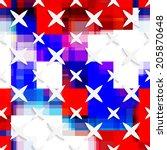 abstract 3d geometrical... | Shutterstock .eps vector #205870648