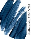 blue grunge frame. hand drawn... | Shutterstock . vector #205877284