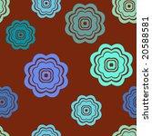 seamless retro flowers pattern... | Shutterstock . vector #20588581