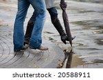 promenade in the rain | Shutterstock . vector #20588911