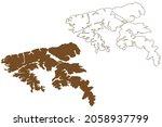 hoste island   republic of... | Shutterstock .eps vector #2058937799