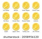 gold currency coins. country... | Shutterstock .eps vector #2058956120